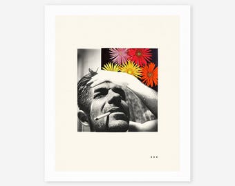 ALGERNON (Giclée Fine Art Print/Photo Print/Poster Print) Minimal, Abstract Collage
