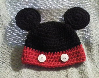 Crochet Hat - Mickey