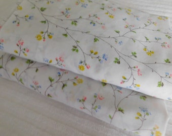 Floral Vine Flat & Fitted Sheet Set- Twin