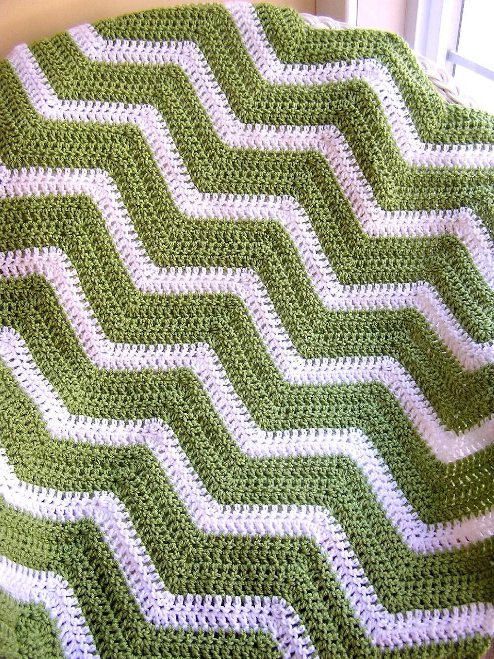 neue Chevron Zick Zack Baby Decke afghanischen Wrap häkeln