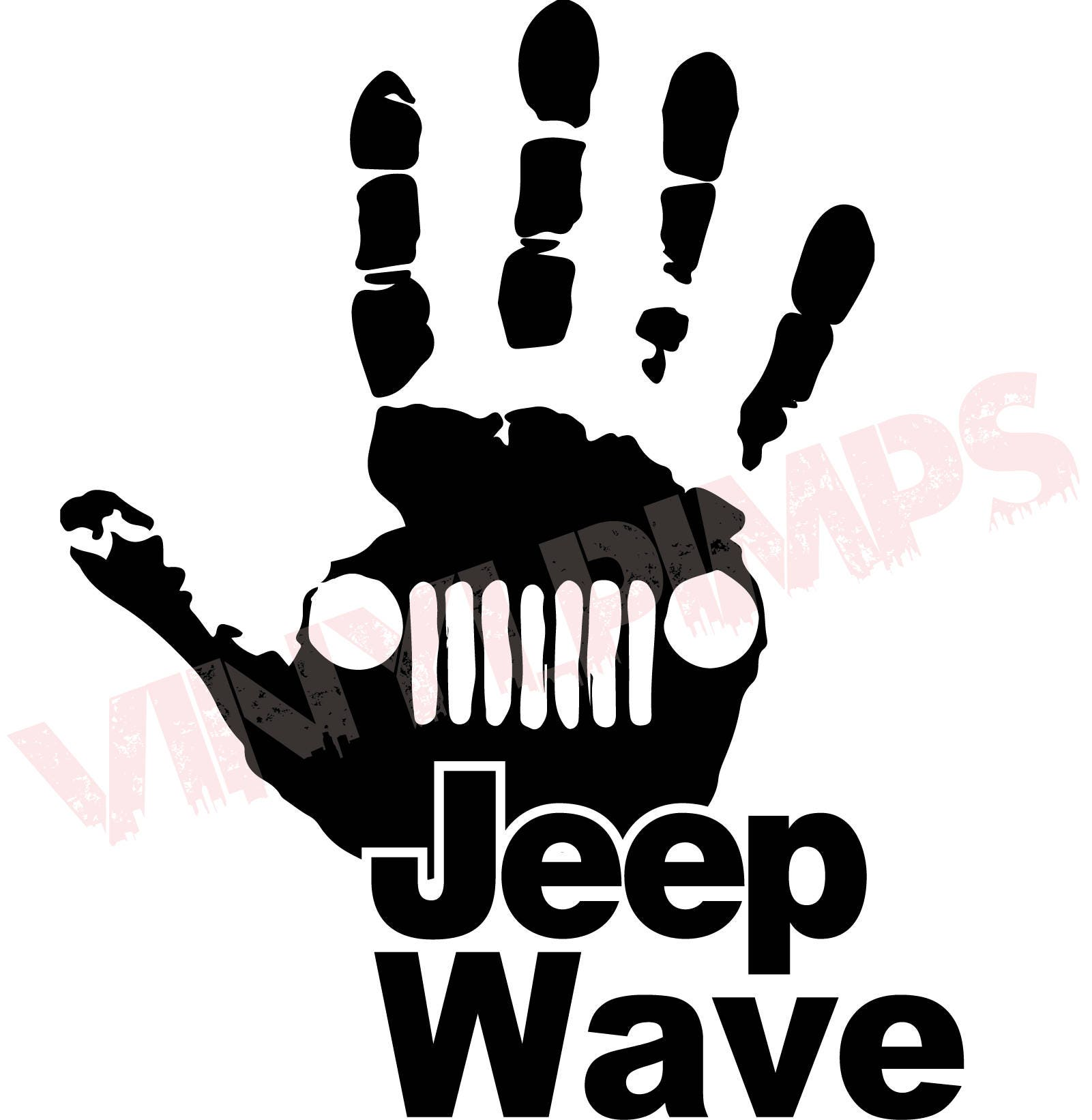 jeep wave decal jeep wrangler unlimited sahara jk tj rh etsy com jeep wrangler logo floor mats jeep wrangler logo seat covers