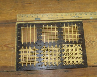 Vintage Reedcraft caning sample board