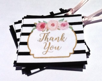 12 Roses Thank You Tags