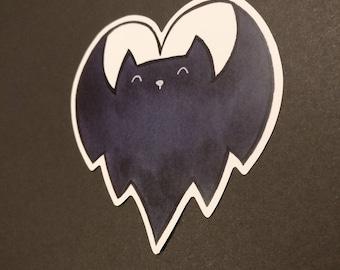 I heart bats sticker