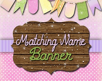 Add on Matching name banner