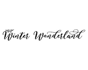 Winter Wonderland Vector Printable Cutable
