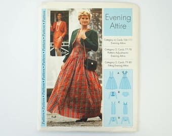 Vintage 1994 Sewing Step by Step Evening Attire Dress Pattern