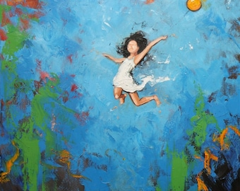 Print Leap 273 10x10 inch Print from oil painting by Roz