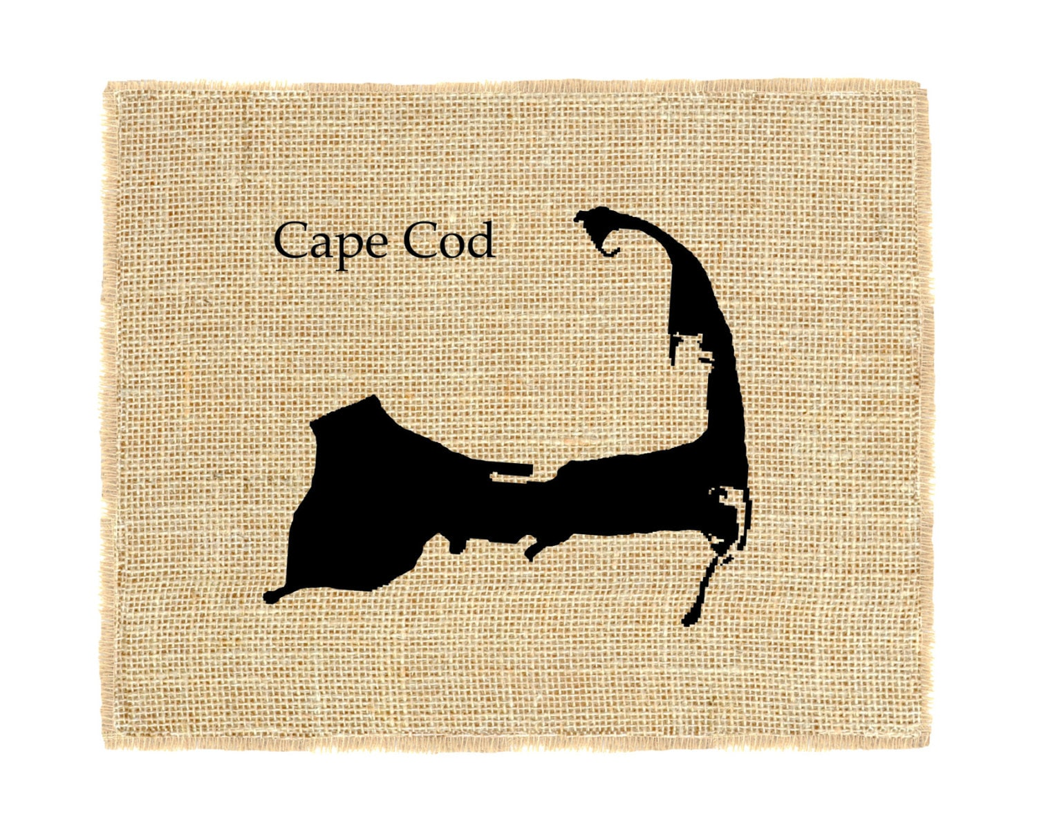 Cape Cod Unframed Cape Cod Wall Decor Burlap Wall Art