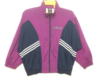 Adidas Windbreaker Color Block Purple Stripes