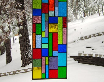 Multi Color Stained Glass Window