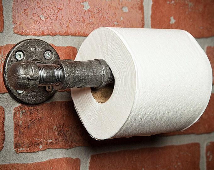 Industrial Pipe Toilet Roll Holder - FREE DOMESTIC SHIPPING