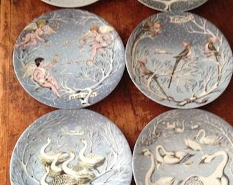 Haviland Limoges set of 4 from Twelve Days of Christmas Plates