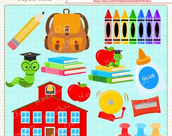 School Days Clipart Set - For Commercial and Personal Use