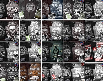 110 designs volume 1  Vector packs t-shirt designs