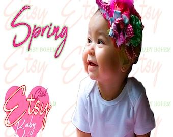 Set Baby Headband and Soft Blanket , Baby Girl Bows and Headbands, New Baby Gift, Newborn Headband Bows Baby Head Band