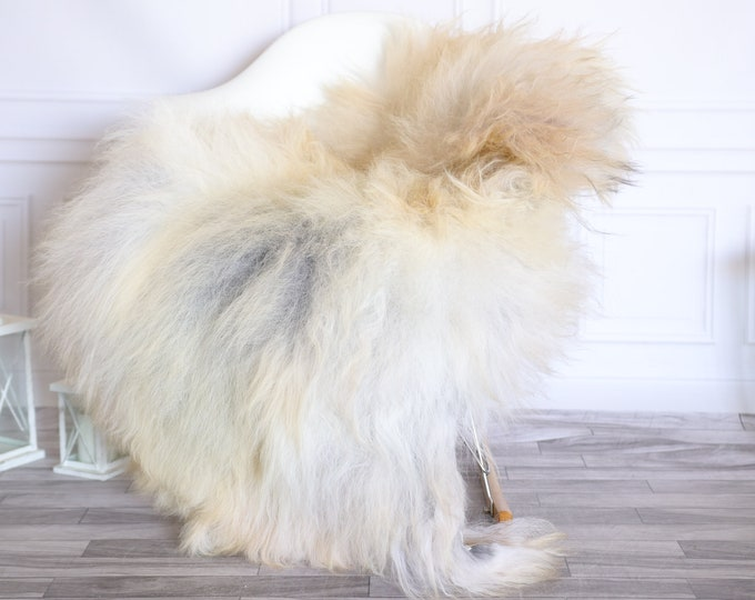 Icelandic Sheepskin | Real Sheepskin Rug |  Super Large Sheepskin Rug Gray Beige | Fur Rug | Homedecor #KOWISL18