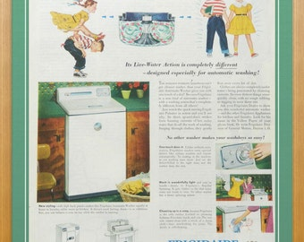 Washer Ad for Frigidaire - Laundry Room Decor
