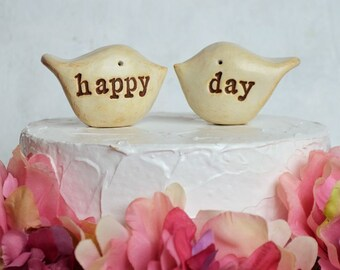 Wedding cake topper...Love birds... happy day