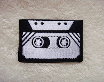 Cassette Tape Embroidered Iron on Applique Patches