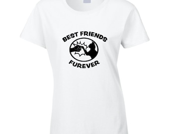 Best Friends Furever BFF Crazy Cat Lady love my cat fist bump gift T Shirt for cat lover