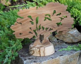 """""""Two oak trees in a vine"""" wooden tree"""