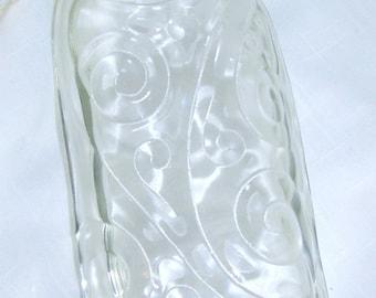 Melted Wine Bottle Serving Dish/Melted Wine Bottle Spoon Rest/Wine Decorations/Wine Kitchen Decor/Clear, Dark Green or Dark Blue Swirl