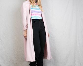 AMAZING Vintage Light Pink Summer Coat / hipster jacket coat womens outerwear overcoat oversized coat duster housecoat