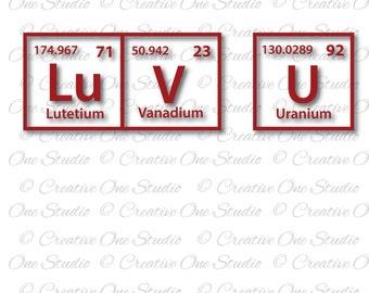 Periodic table love etsy luv u periodic table elements love you svg dxf eps studio3 pdf png jpg silhouette cameo cricut cut files vinyl scrapbooking urtaz Gallery