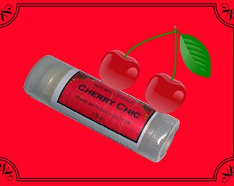 CHERRY CHIC Lip Balm made with Shea Butter - .15oz Oval Tube