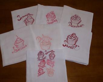 Cupcake Medley Dish Towels (Set of 7) - Made to Order