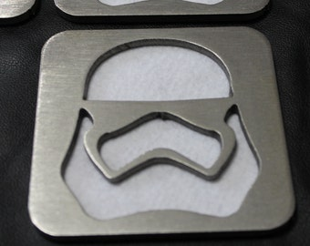 Storm Trooper Stainless Coasters Set of 4