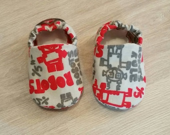 Baby Booties, Baby Gifts, Baby Slippers, Baby Crib Shoes, Baby Moccs, Baby Shoes, Baby Accessories, Robot Baby Booties, Robot Baby Slippers