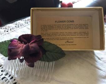 Vintage Handcrafted Flower Comb