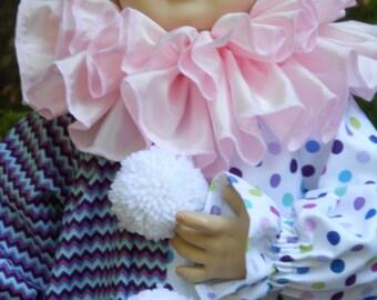 "D070  Made to Order Sweet Little  ""Sugar Plum"" Clown Halloween Costume Children's Sizes"