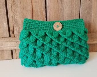 Crochet Clutch Purse / Crochet Purse / Crochet Gift / Crochet Handbag - Green