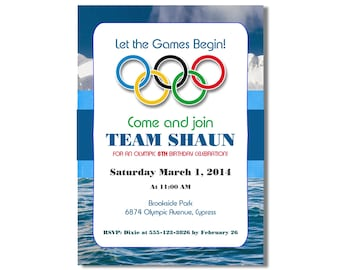 Olympic Invitation Etsy - Olympic party invitation template