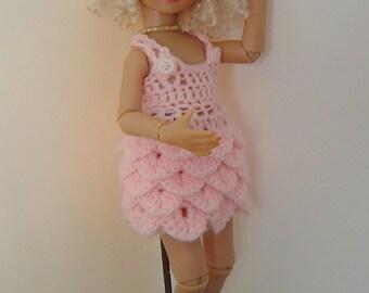 """0060 Miniature Crocodile 3PC Crochet Pattern Smaller Ashton Drake Effner 13"""" dolls"""