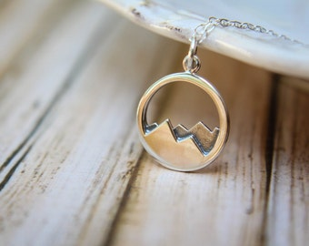 Mountain Range Necklace in Sterling Silver