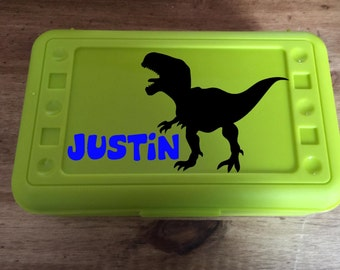Back to School, Dinosaur, Personalized Pencil Box, .