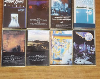 Vintage Lot of 8 Moody Blues Cassettes / Classic Rock