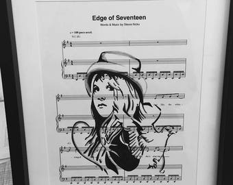 Stevie Nicks music sheet art