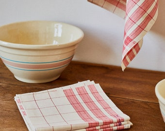 New French Linen Tea Towel from the '40s