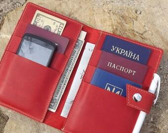 Family passport holder\family travel wallet\Leather family 4,6,8,10 Passport holder\Holds 4 Passports\Monogramed travel wallet\Passport case