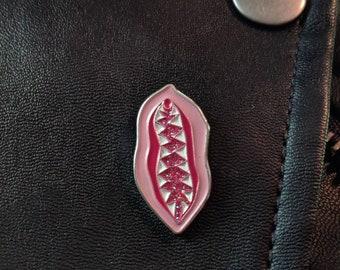Vagina Dentata Enamel Pin. Feminist Pin. Funny Gift. Gifts for Her. Gifts for Him. Enamel Pin. Feminist Art. Pin. Erotic Art. Lapel Pin.