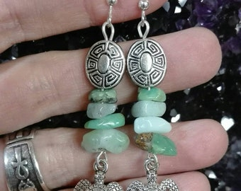 "Earrings ""Totem of the turtle"""
