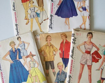 Vintage Simplicity Sewing Patterns Lot of Summer Wardrobe