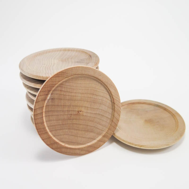 $10.00 & 10 Miniature Wood Plates | Unfinished Wooden Plates Small Wood ...