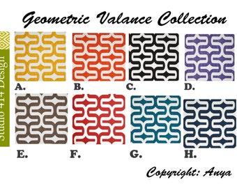Geometric Valance. Geometric Window Treatment.Geometric Window Valance.Geometric Valance.Gotcha window Treatment