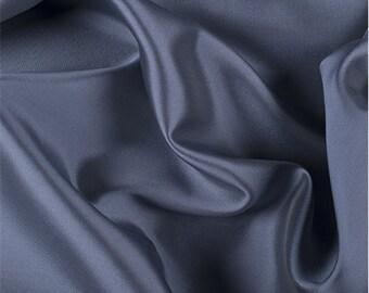 Blue Gray Silk/Wool Gab, Fabric By The Yard